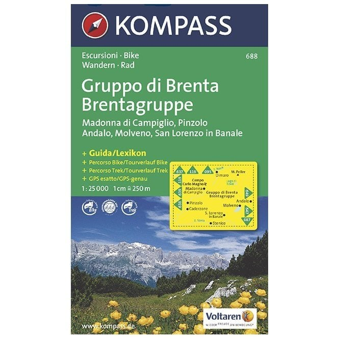 Cover of Brenta Group 3 in 1 Hiking Map By Kompass