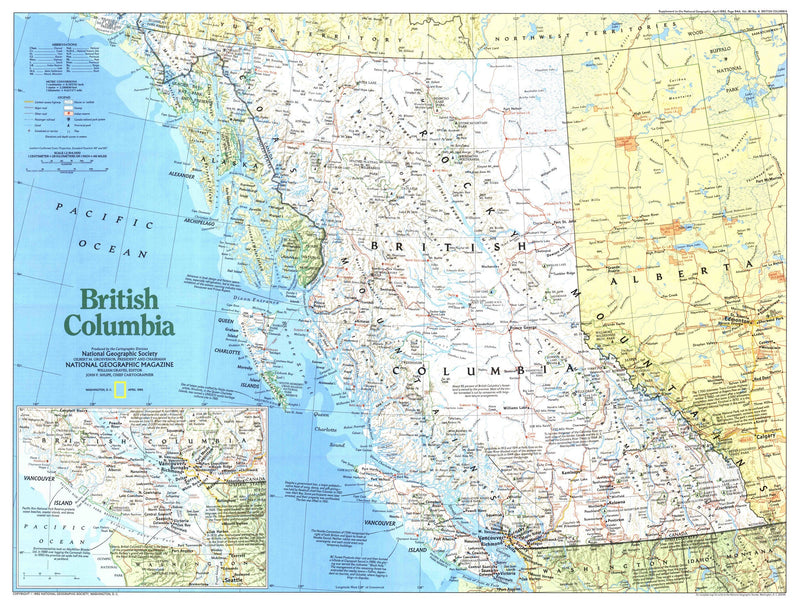 British Columbia Map 1992 Side 1