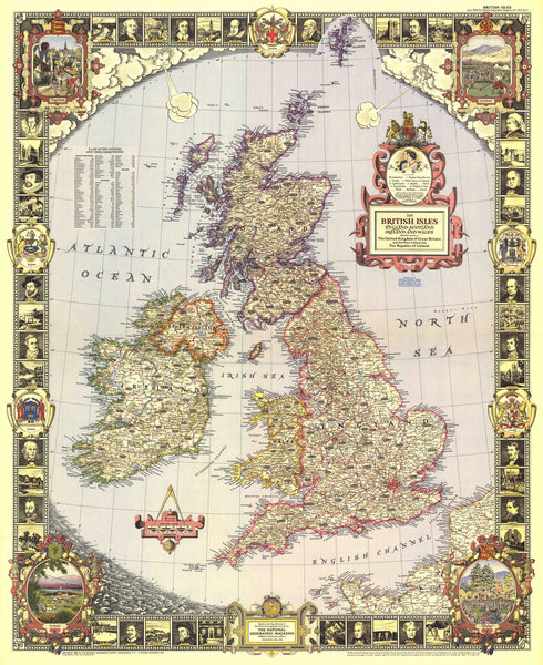 British Isles Map 1949