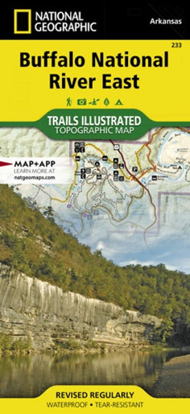 Buffalo National River, East, Arkansas, Map by National Geographic