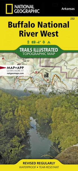 Buffalo National River, West, Arkansas, Map by National Geographic