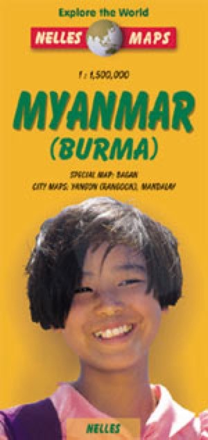Burma and Myanmar Travel Map