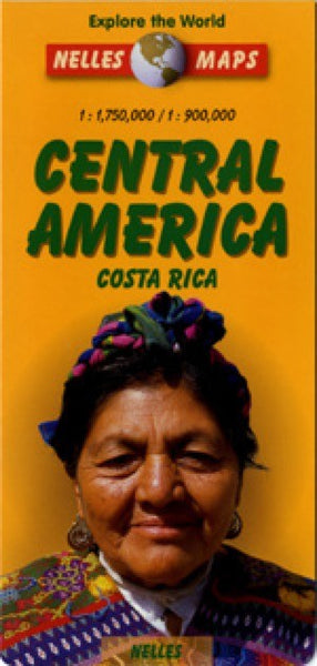 Central America and Costa Rica Travel Map