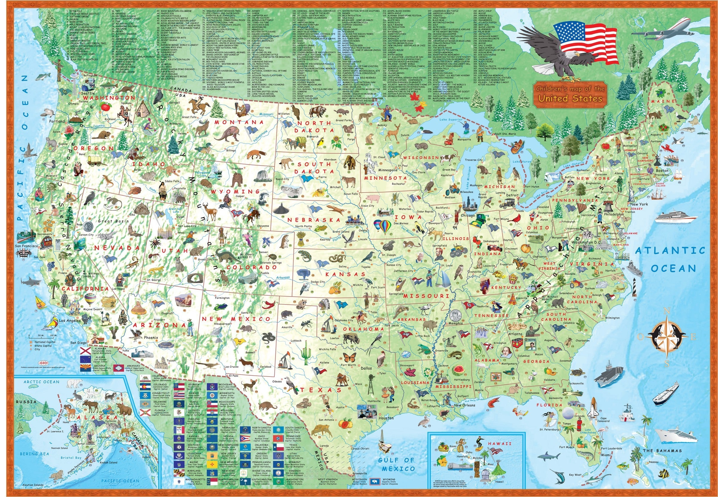 Children\'s Map of the United States