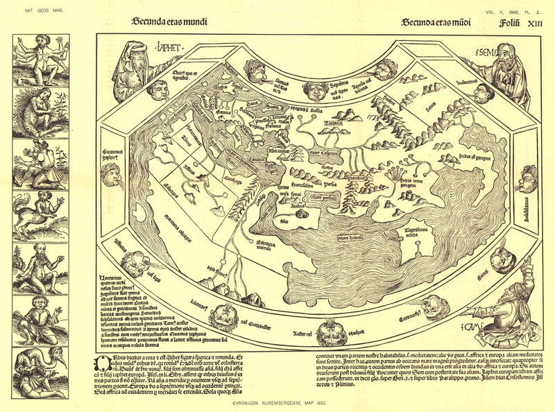 Chronicon Nurembergense 1493 Map