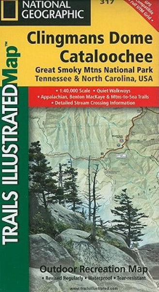 Clingmans Dome and Cataloochee, Great Smoky Mountains National Park, Map 317 by National Geographic Maps