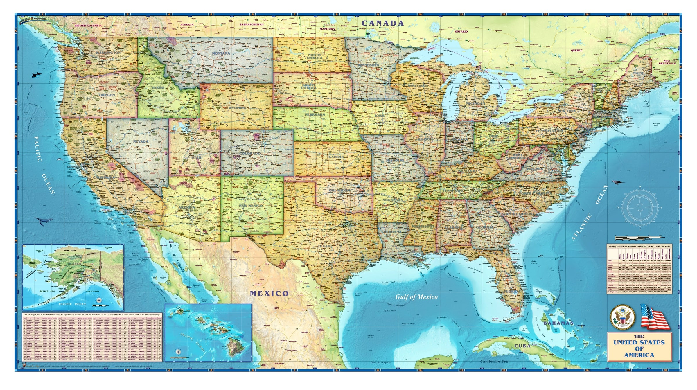 Political Map of the USA