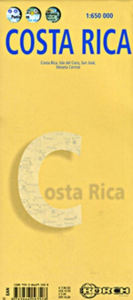 Costa Rica Travel Map, By Borch