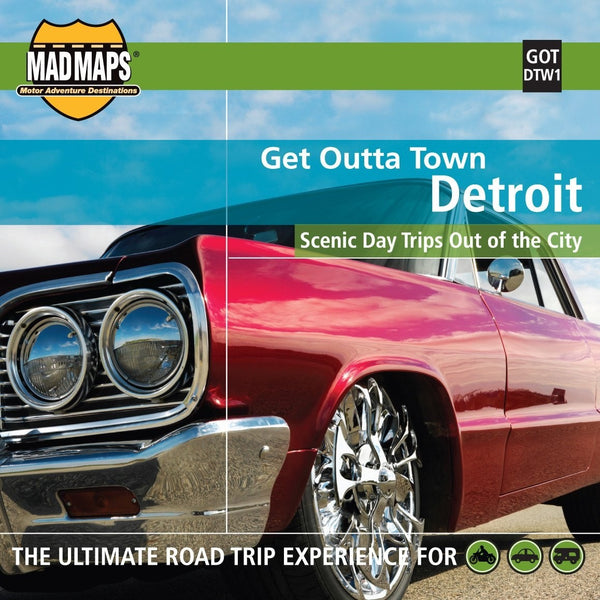Detroit, Michigan, Get Outta Town by MAD Maps