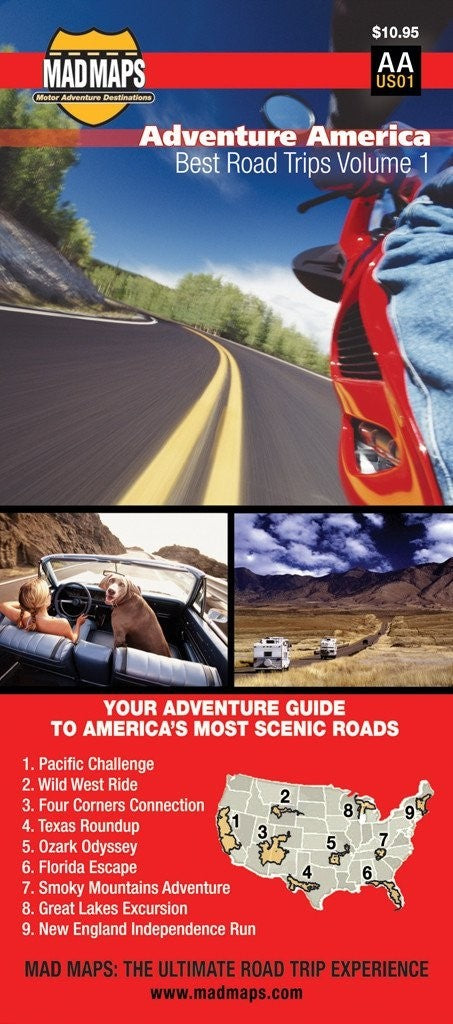 Adventure America, Best Road Trips of a Lifetime, Volume 1 by MAD Maps