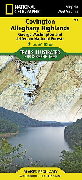 Covington and Alleghany Highlands, Virginia by National Geographic Maps