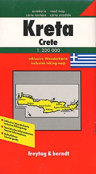 Crete, Greece Travel Map