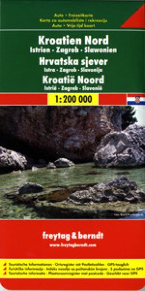 Croatia North, Istria, Zagreb and Slavoni Travel Map