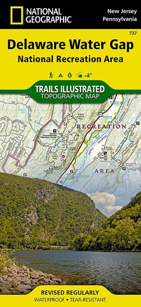Delaware Water Gap National Recreation Area map by National Geographic Maps