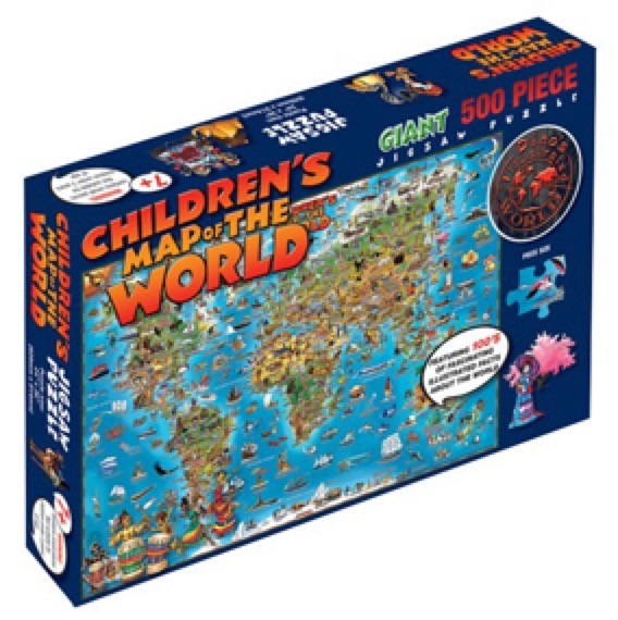 Dinos World Map 500 Piece Jigsaw Puzzle