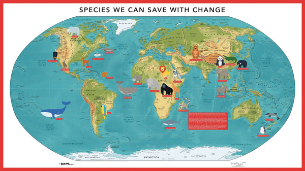 World's Endangered Species Map