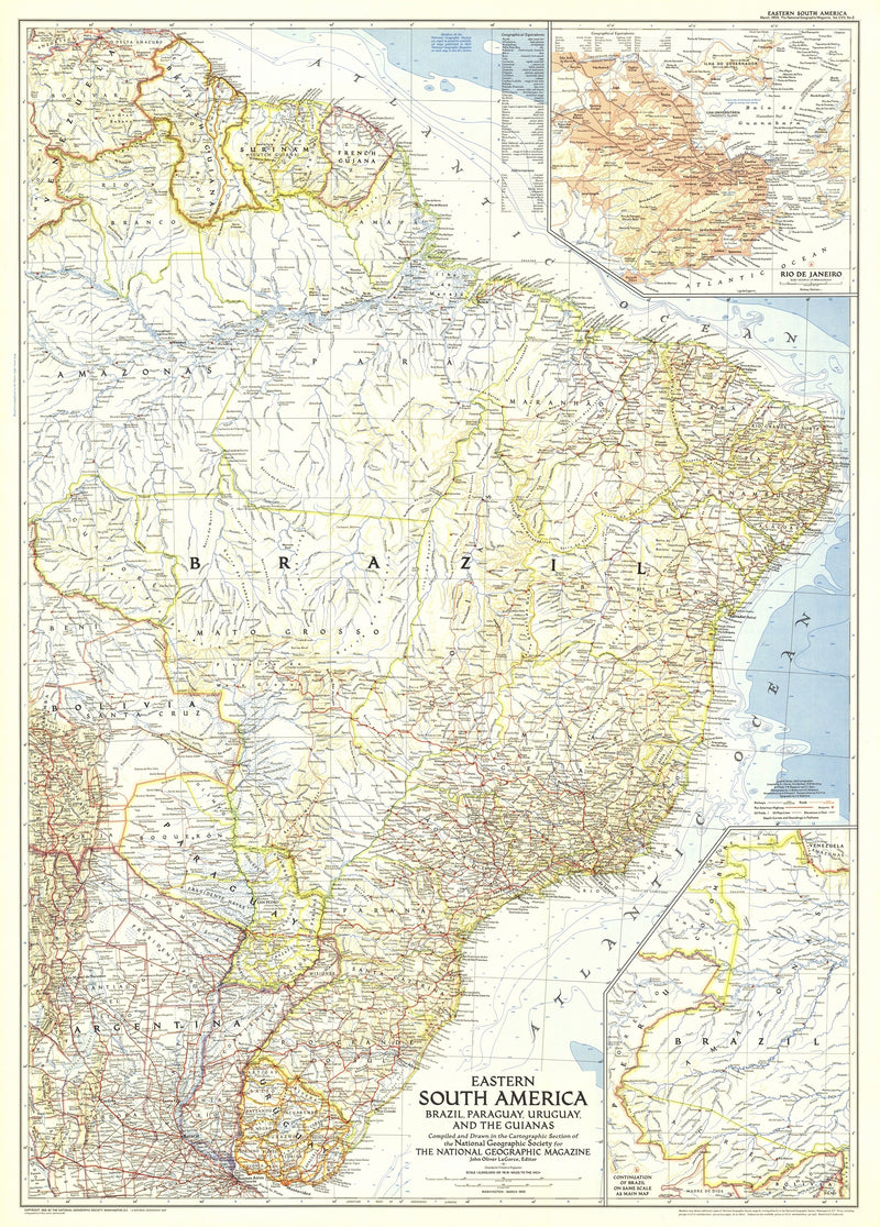 Eastern South America Map 1955