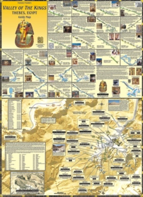 Egypt Wall Map, Valley of the Kings