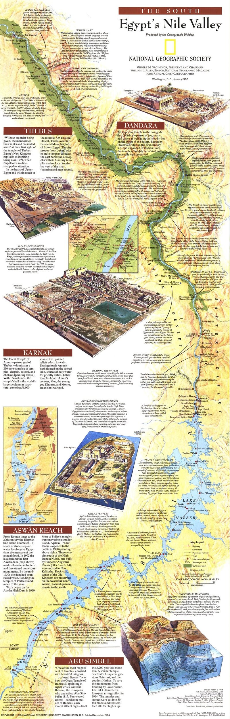Egypts Nile Valley South Map 1995