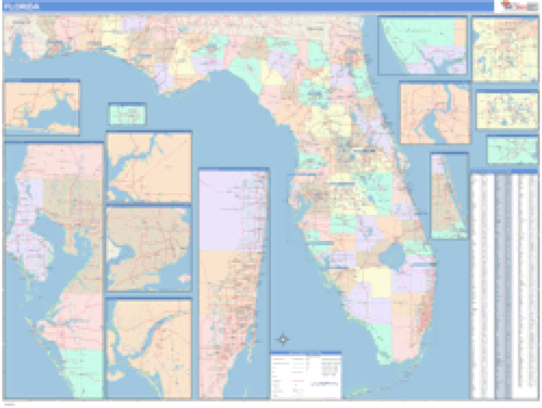 Florida Business Wall Map