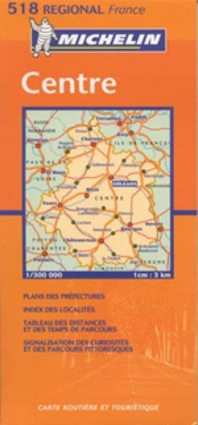 France, Centre Travel Map