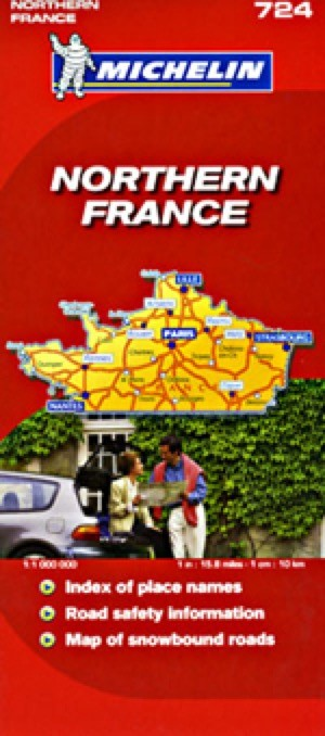France, Northern Travel Map