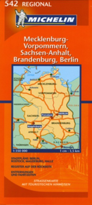 Germany, Northeast Travel Map