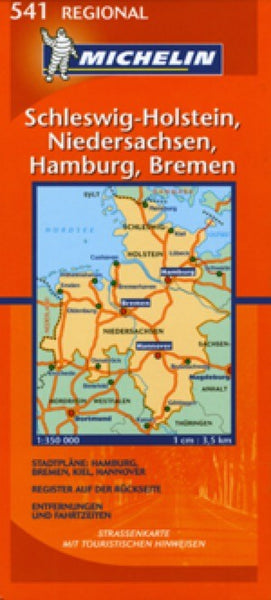 Germany, Northwest Travel Map