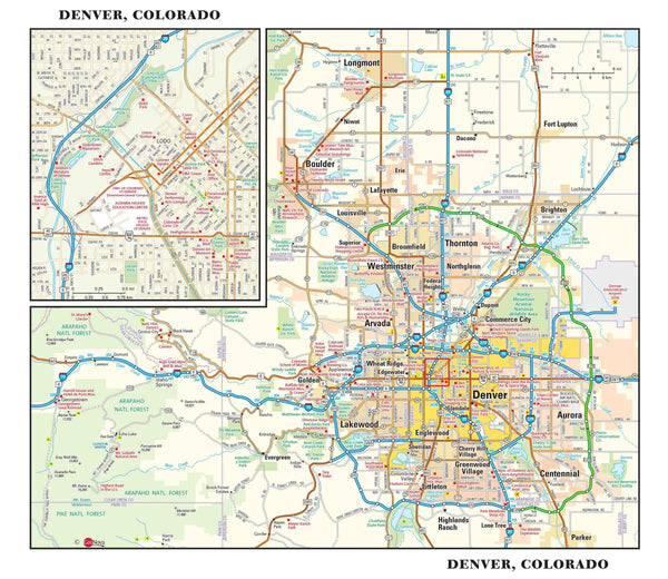 Denver Metro Wall Map