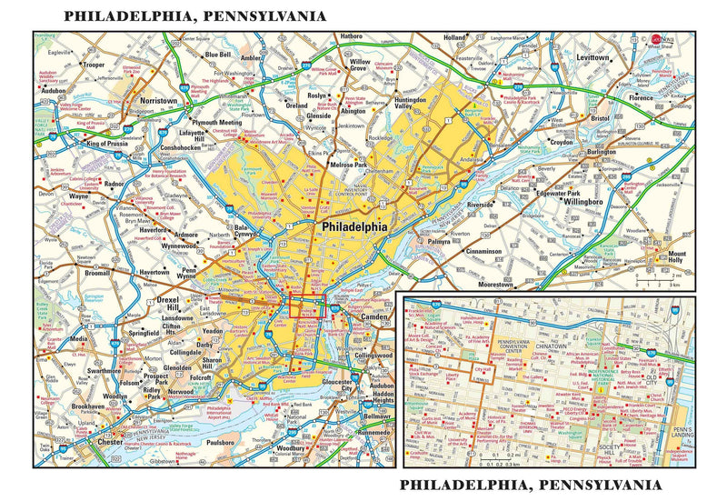 Philadelphia Metro Wall Map