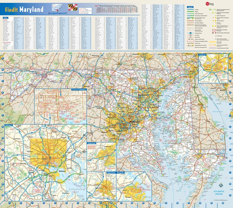Maryland Wall Map
