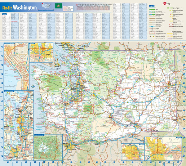 Washington Wall Map