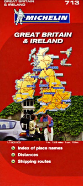 Great Britain and  Ireland Travel Map