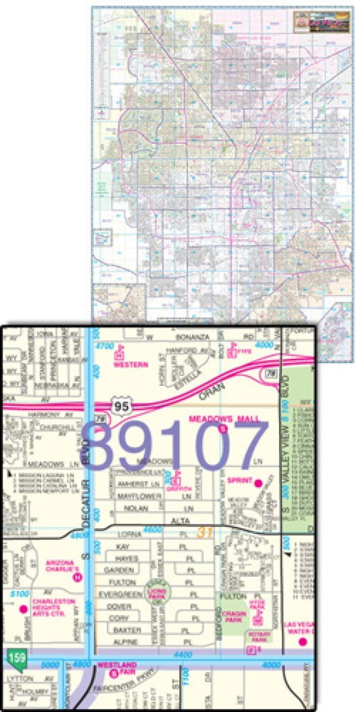 Greater Las Vegas Area Wall Map