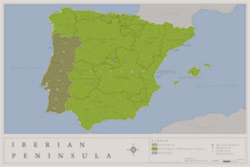 Iberian Peninsula Wall Map