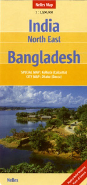 India, Northeastern and Bangladesh Travel Map
