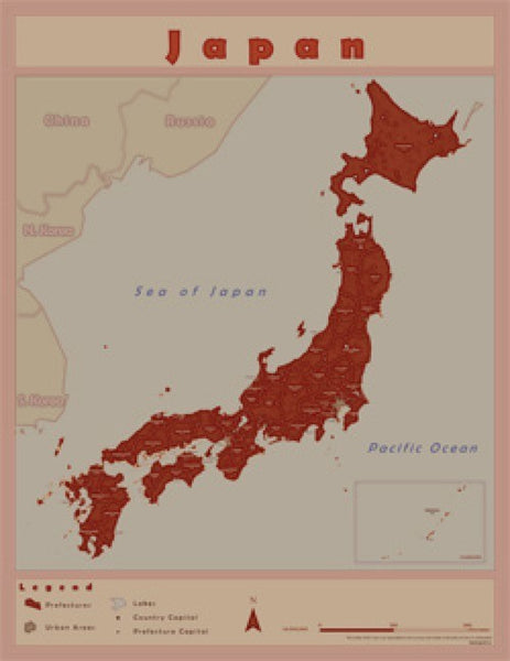 Japan Wall Map by Ciao Frenandes