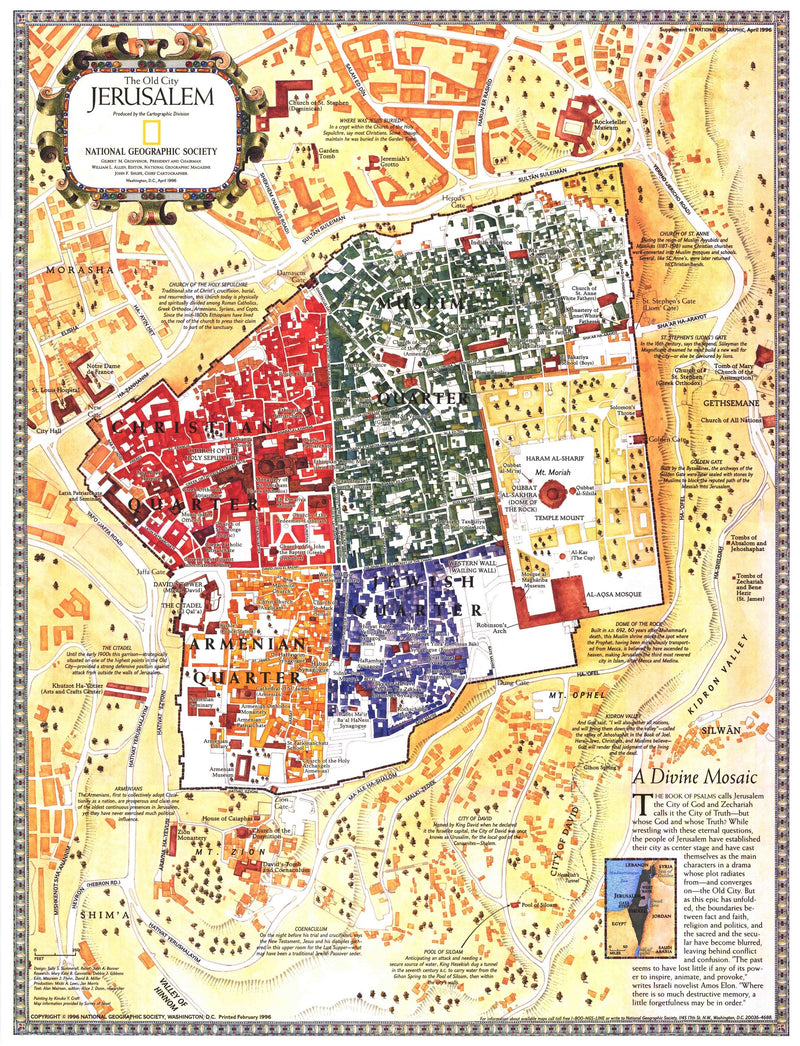 Jerusalem: The Old City Map 1996