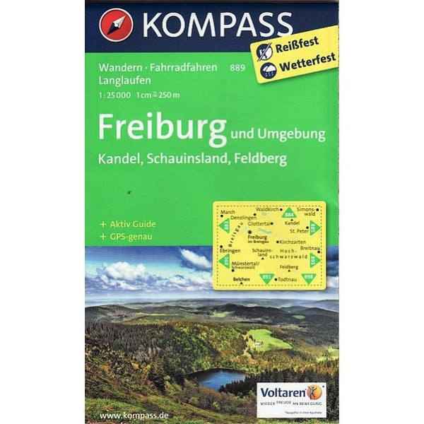 Cover of Freiburg und Umgebung Hiking Map By Kompass