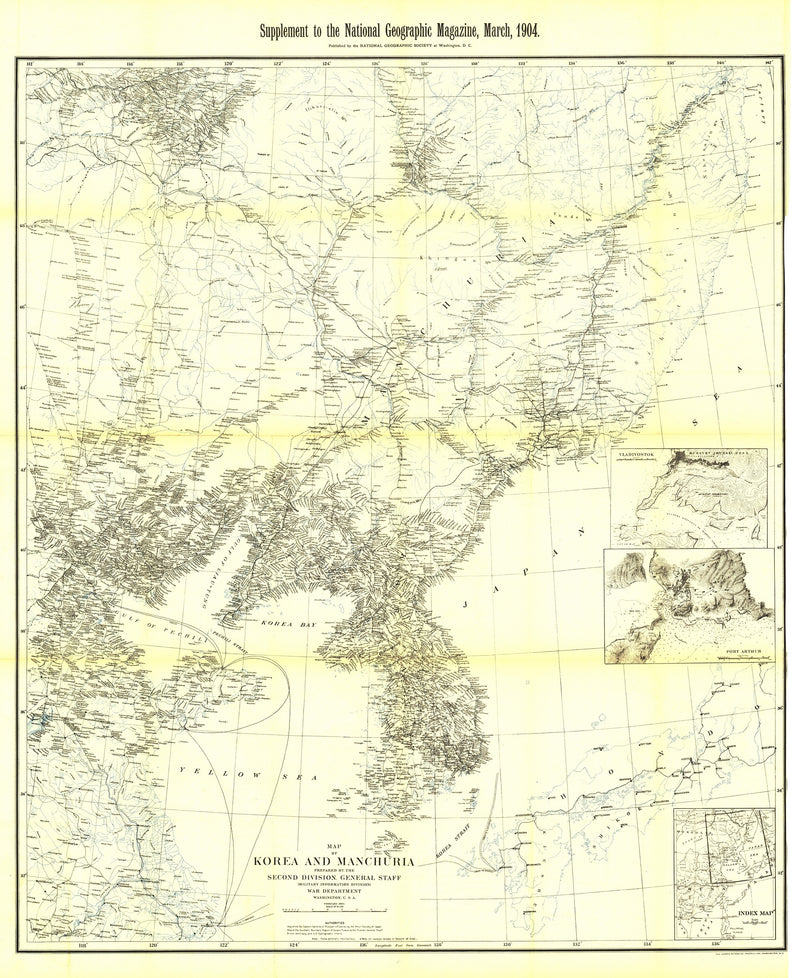 Korea And Manchuria Map 1904