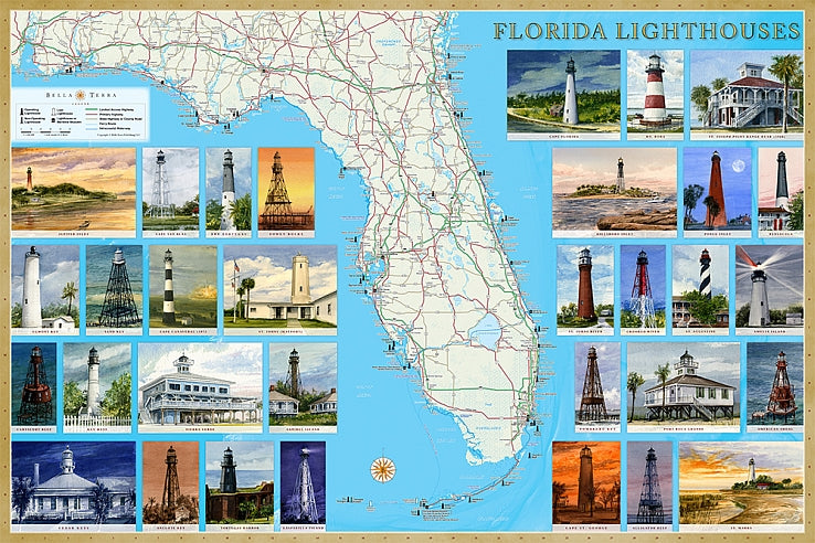 Cover of Florida Lighthouses Map