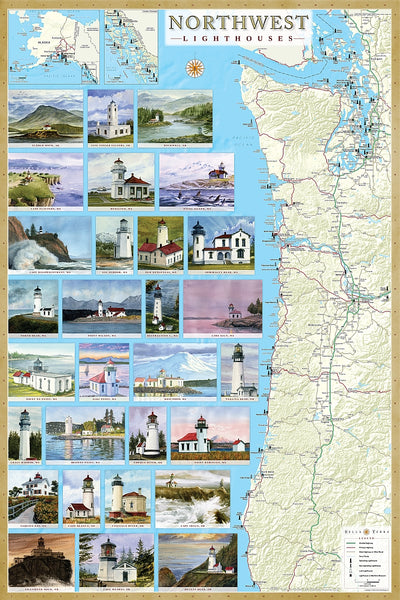 Cover of Northwest Lighthouses Map