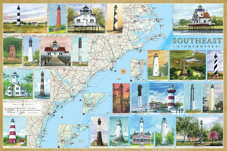 Cover of Southeast Lighthouses Map