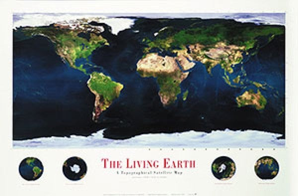 Living Earth Wall Map