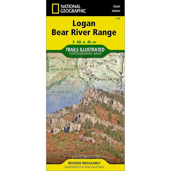 Logan Bear River Range, Folded Map by National Geographic
