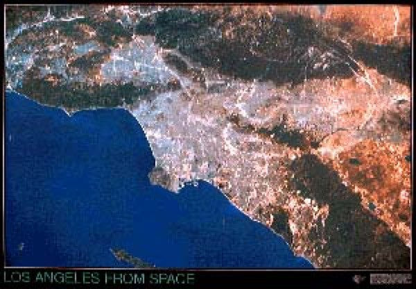 Los Angeles Satellite Map