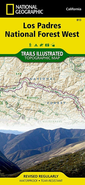 Los Padres National Forest, West, Map 813 by National Geographic Maps