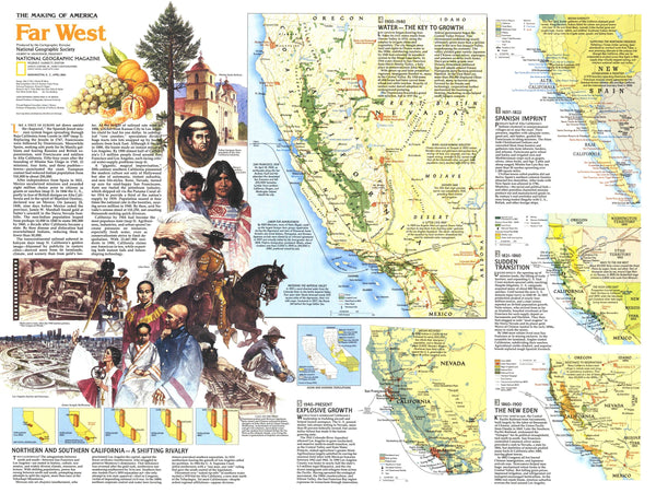 Making Of America, Far West Map 1984 Side 2