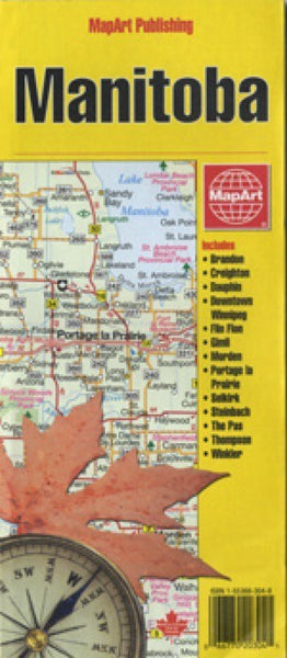 Manitoba, Canada Travel Map