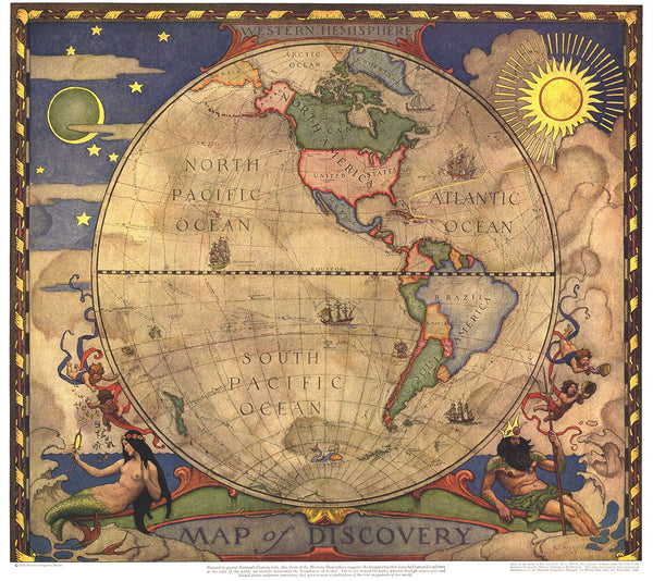 Map of Discovery: Western Hemisphere